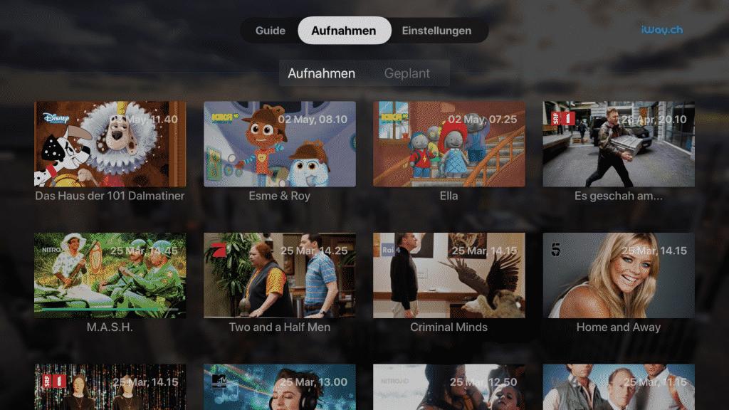 iWay Apple TV App - Videorecorder
